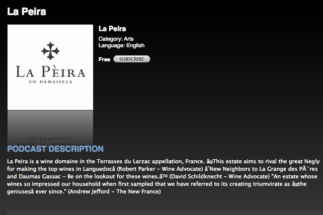 Subscribe to La Peira on Itunes