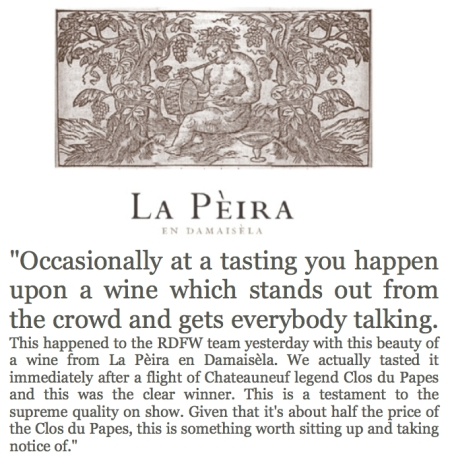 Fields, Morris & Verdin Tasting Richard Dawes Fine Wine La Peira labels 2