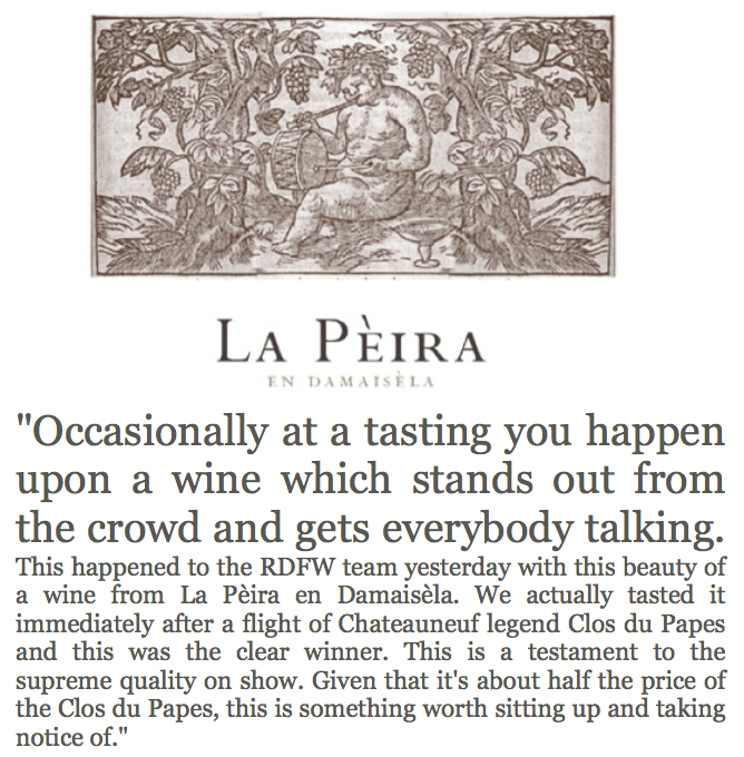 Fields, Morris & Verdin Tasting Richard Dawes Fine Wine La Peira labels 2