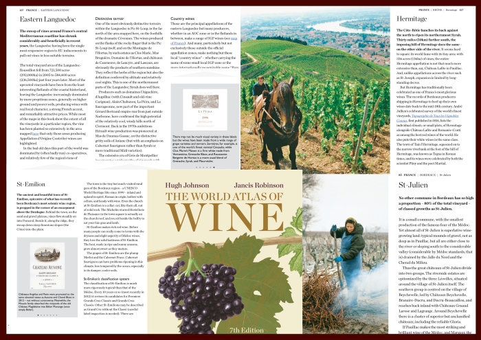La Pèira in the The World Atlas of Wine, 7th Edition by Hugh Johnson & Jancis Robinson 2